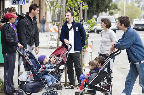 Ruth Bond, Seth and Ben Miller, Aidan and Tim Goldstein, and Clem Tillier with Leah and Sam Tillier, Bernal Heights Parents by Thomas Hawk.