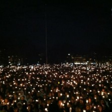 Penn State Candlelight Vigil by Pat Toohey